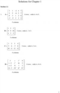 Student Solutions Manual, Matrix Methods